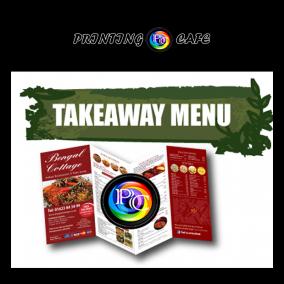 cheap takeaway menu printing
