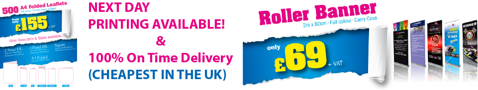 Cheapest online printing service for next day printing and delivery UK